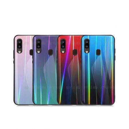 خرید قاب لیزری گوشی سامسونگ Galaxy A20 مدل رنگین کمان