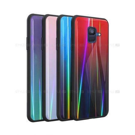 خرید قاب لیزری گوشی سامسونگ Samsung A6 2018 مدل رنگین کمان