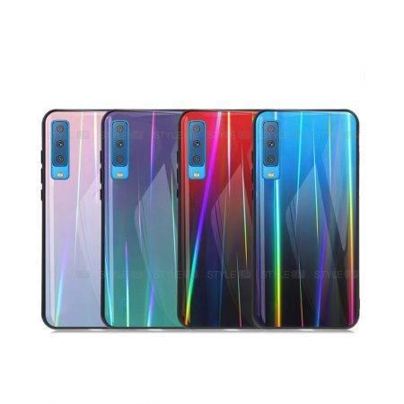 خرید قاب لیزری گوشی سامسونگ Galaxy A7 2018 مدل رنگین کمان