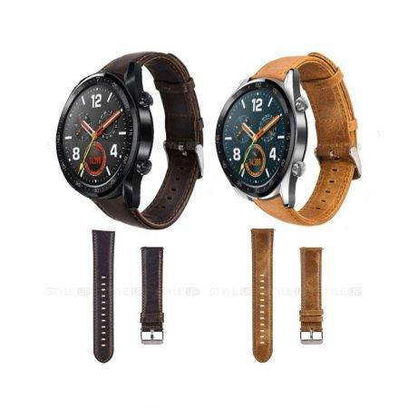خرید بند ساعت هواوی واچ Huawei Watch GT مدل چرمی Genuine