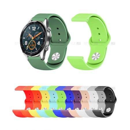 خرید بند سیلیکونی ساعت هواوی واچ Huawei Watch GT مدل دکمه ای