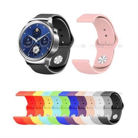 خرید بند سیلیکونی ساعت هواوی واچ 1 Huawei Watch مدل دکمه ای