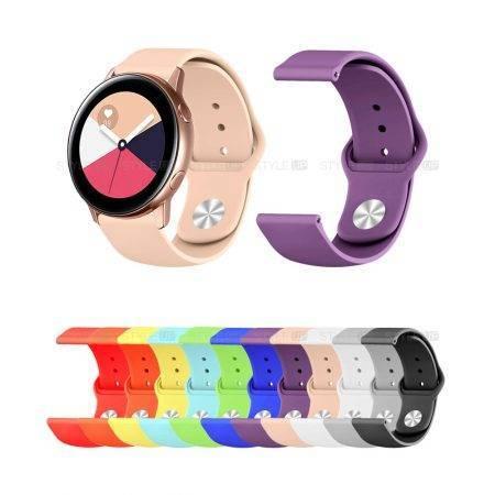 خرید بند سیلیکونی ساعت سامسونگ Galaxy Watch Active مدل دکمه ای