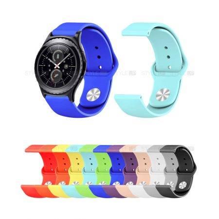 خرید بند سیلیکونی ساعت سامسونگ Gear S2 Classic مدل دکمه ای