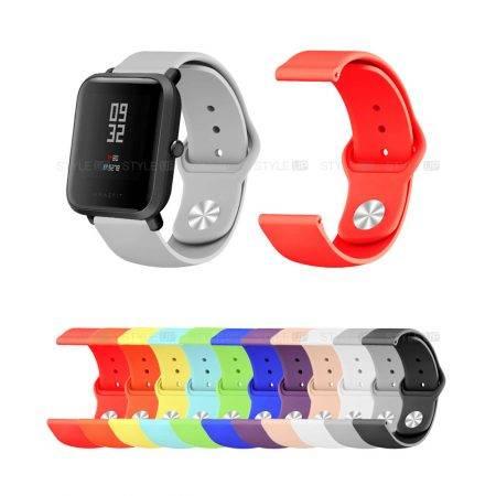 خرید بند سیلیکونی ساعت هوشمند شیائومی Amazfit Bip مدل دکمه ای