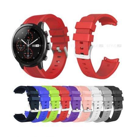خرید بند ساعت شیائومی Amazfit Stratos سیلیکونی طرح گلکسی