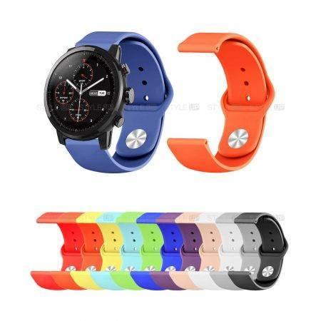 خرید بند سیلیکونی ساعت شیائومی Amazfit Stratos مدل دکمه ای