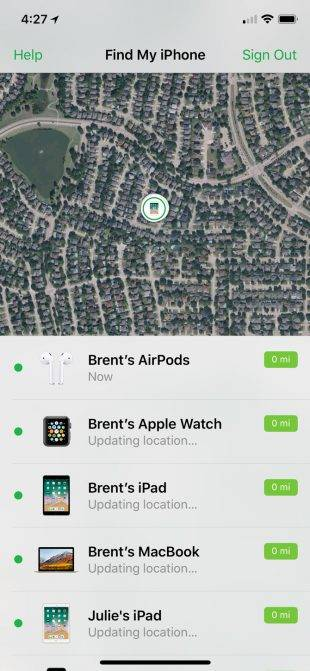 پیدا کردن ابرپاد اپل
