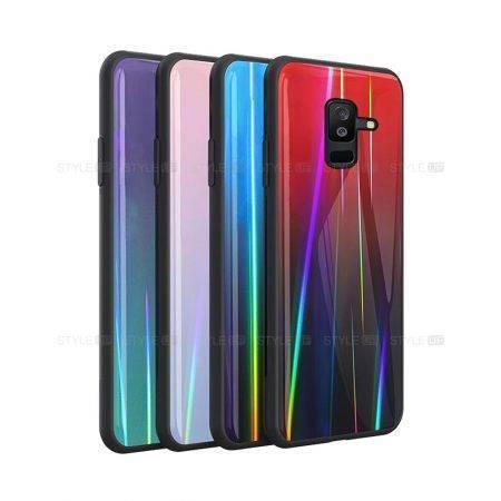 خرید قاب لیزری گوشی سامسونگ Galaxy A6 Plus 2018 مدل رنگین کمان
