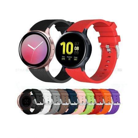 خرید بند ساعت سامسونگ Galaxy Watch Active 2 سیلیکونی طرح گلکسی