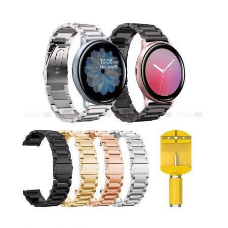خرید بند استیل ساعت سامسونگ Galaxy Watch Active2 مدل 3Pointers