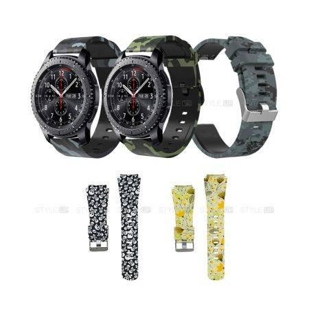 خرید بند طرح دار ساعت هوشمند سامسونگ Samsung Gear S3