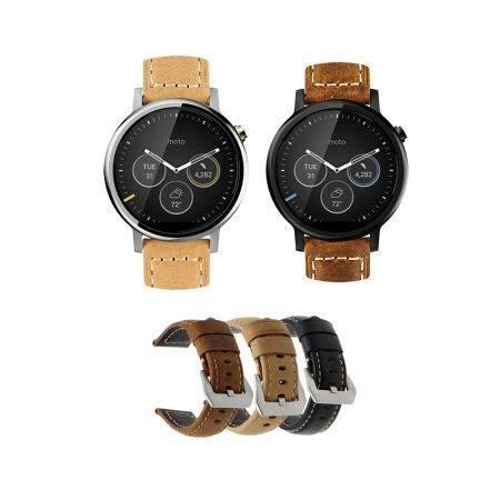 خرید بند چرمی ساعت هوشمند موتورولا Moto 360 46mm مدل Horse Leather