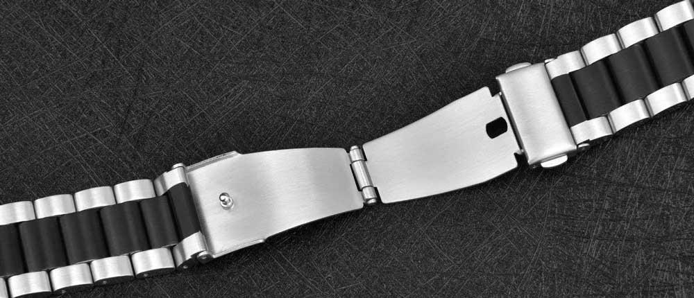 Galaxy Watch 42mm Steel Band silver black