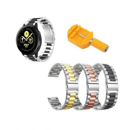خرید بند ساعت سامسونگ Galaxy Watch Active استیل دو رنگ
