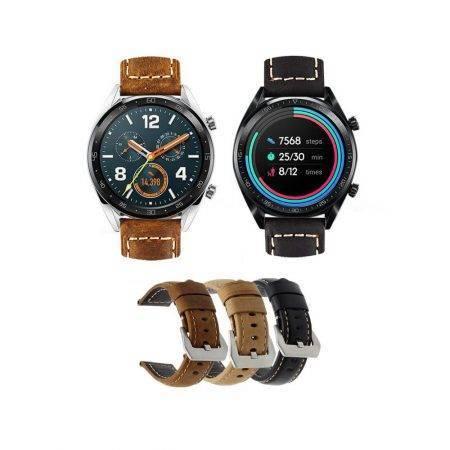 خرید بند چرمی ساعت هواوی واچ Huawei Watch GT مدل Horse Leather