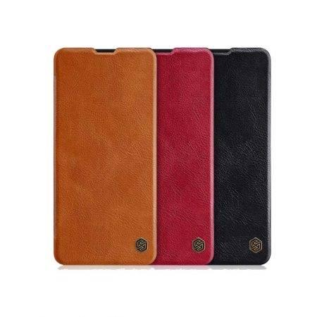 خرید کیف چرمی نیلکین گوشی سامسونگ Samsung A51 مدل Qin