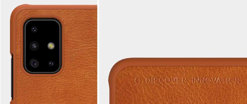 خرید کیف چرمی نیلکین گوشی سامسونگ Samsung A71 مدل Qin