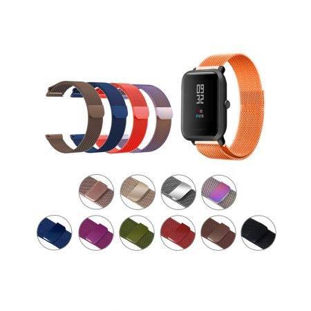 خرید بند استیل ساعت شیائومی Xiaomi Amazfit Bip مدل New Milanese
