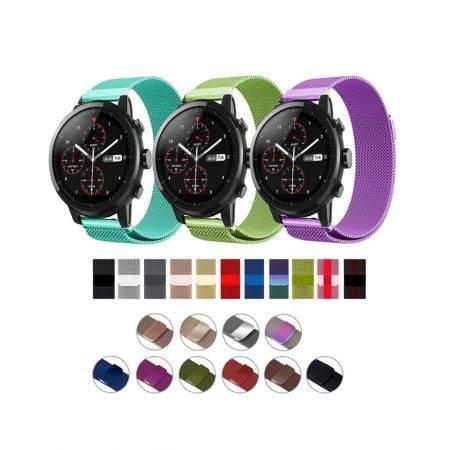 خرید بند استیل ساعت شیائومی Amazfit Stratos مدل New Milanese