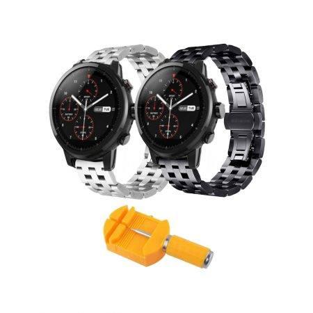 خرید بند ساعت هوشمند شیائومی Amazfit Stratos استیل 5Bead