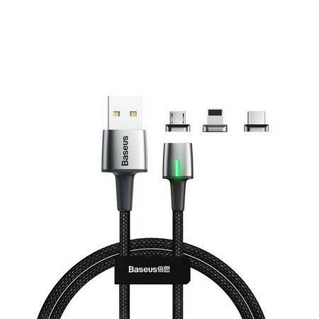 خرید کابل شارژ مغناطیسی بیسوس Baseus Zinc Magnetic Cable Kit 2m