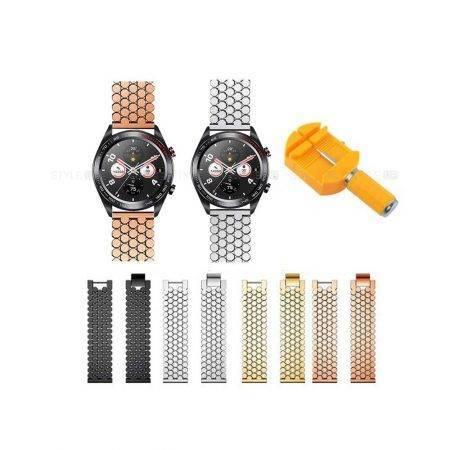 خرید بند استیل ساعت هوشمند هواوی انر Honor Magic طرح کندویی