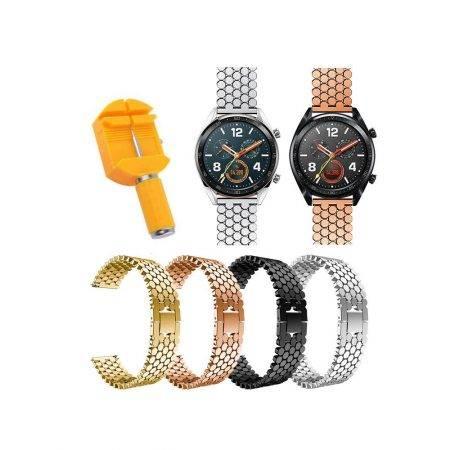 خرید بند استیل ساعت هوشمند هواوی Huawei Watch GT طرح کندویی