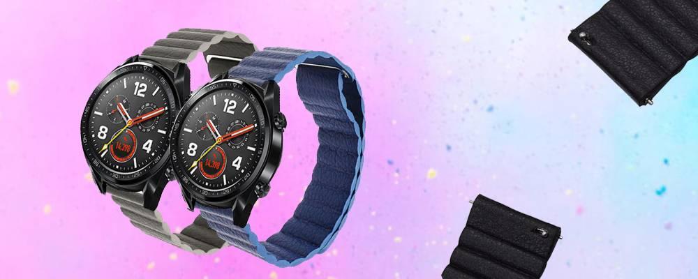 خرید بند چرمی ساعت هوشمند هواوی واچ Huawei Watch GT مدل leather loop
