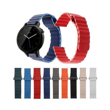 خرید بند چرمی ساعت موتورولا موتو Moto 360 42mm مدل Leather Loop