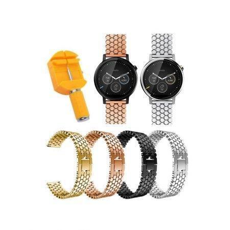 خرید بند استیل ساعت هوشمند موتورولا Moto 360 46mm طرح کندویی