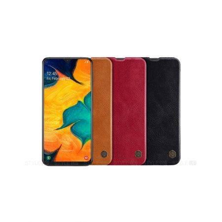 خرید کیف چرمی نیلکین گوشی سامسونگ Samsung A40s مدل Qin