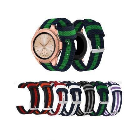 خرید بند ساعت هوشمند سامسونگ Galaxy Watch 42mm مدل نایلونی