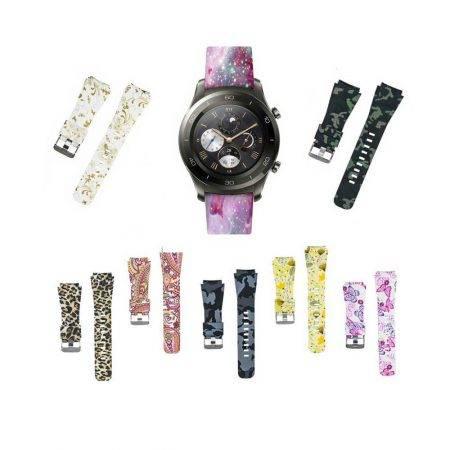 خرید بند سیلیکونی ساعت هواوی واچ Huawei Watch 2 Classic طرح دار