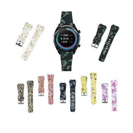 خرید بند سیلیکونی ساعت هواوی واچ Huawei Watch GT طرح دار