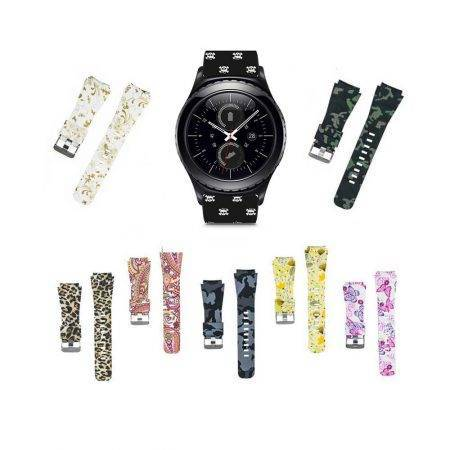 خرید بند سیلیکونی ساعت سامسونگ Samsung Gear S2 Classic طرح دار