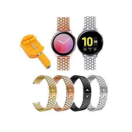 خرید بند استیل ساعت سامسونگ Galaxy Watch Active 2 طرح کندویی