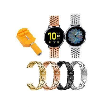 خرید بند استیل ساعت هوشمند سامسونگ Galaxy Watch Active طرح کندویی
