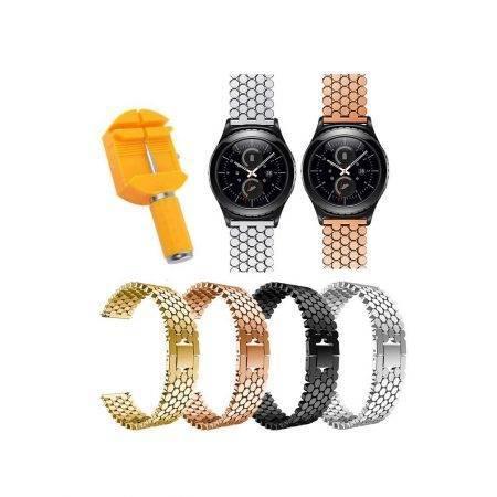 خرید بند استیل ساعت هوشمند سامسونگ Gear S2 Classic طرح کندویی