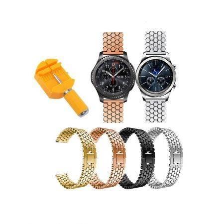 خرید بند استیل ساعت هوشمند سامسونگ Gear S3 طرح کندویی