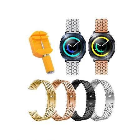 خرید بند استیل ساعت هوشمند سامسونگ Samsung Gear Sport طرح کندویی