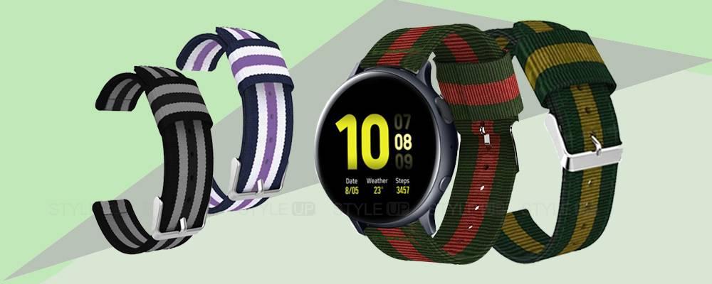 خرید بند ساعت هوشمند سامسونگ Galaxy Watch Active 2 مدل نایلونی