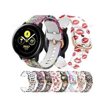 خرید بند ساعت سامسونگ Galaxy Watch Active سیلیکونی طرحدار