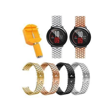 خرید بند استیل ساعت هوشمند شیائومی Amazfit Pace طرح کندویی