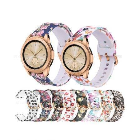 خرید بند ساعت سامسونگ Samsung Galaxy Watch 42mm سیلیکونی طرحدار