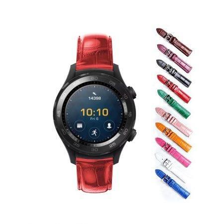 خرید بند چرمی ساعت هواوی Huawei Watch 2 Sport طرح Alligator