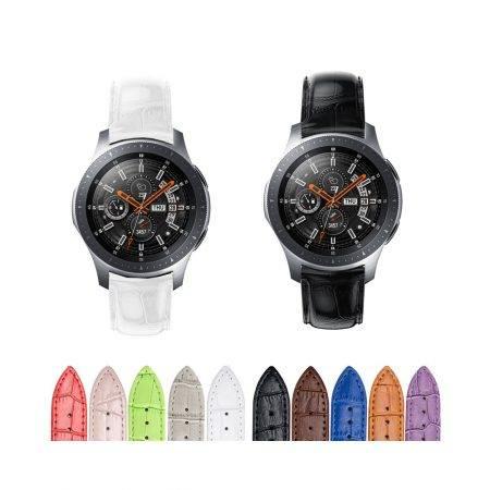 خرید بند چرمی ساعت سامسونگ Galaxy Watch 46mm طرح Alligator