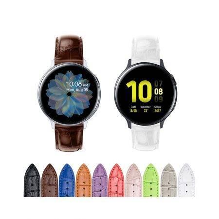 خرید بند چرمی ساعت سامسونگ Galaxy Watch Active2 طرح Alligator