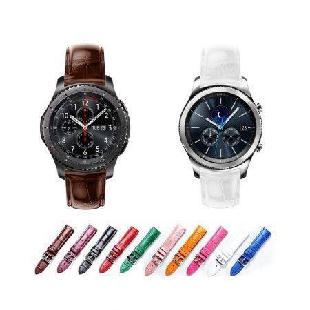 خرید بند چرمی ساعت هوشمند سامسونگ Gear S3 طرح Alligator