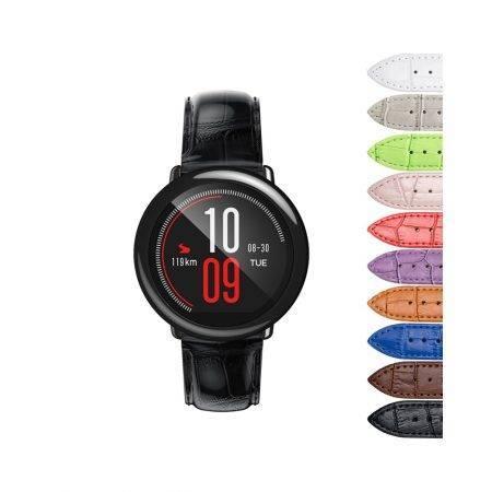 خرید بند چرمی ساعت هوشمند شیائومی Amazfit Pace طرح Alligator